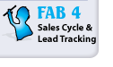 FAB4 CRM Sales Cycle and Lead Tracking